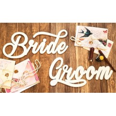Bride & Groom - wedding signs