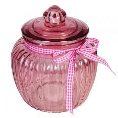Borcan sticla roz mare