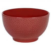 Bol ceramica rosie