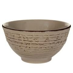 Bol ceramica maro