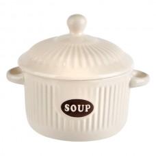 Bol supa ceramica alba