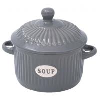 Bol supa gri ceramica