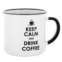 "Cana cafea ""Keep calm and drink coffee"""