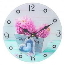 Ceas de perete Zambila roz