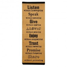 Covor bumbac mesaj ''LISTEN''