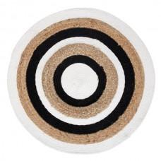 Covor rotund bumbac si iuta ''Circles''