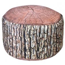 Puf trunchi lemn