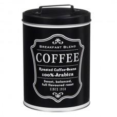 Recipient metal negru cafea
