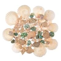 Set Coastal Shells Green