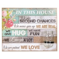 "Tablou decorativ cu vaza ""In this house"""