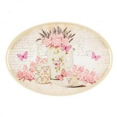 "Tava ovala ""Pink Butterflies''"